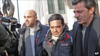 Angelo Spata leaves court in Brooklyn