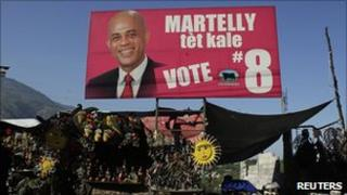 Poster of Michel Martelly, 20 January 2011