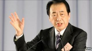 Japanese Prime Minister Naoto Kan pictured on 13 January 2011