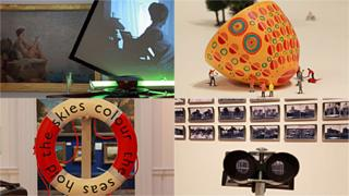 Northern Art Prize shortlisted artists (clockwise from top left): Haroon Mirza, Lubaina Himid, David Jacques, Alec Finlay