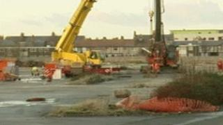 The site of the planned shopping centre in Prestatyn, Denbighshire