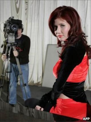 Anna Chapman in a Ren TV publicity photo from 27 December