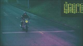 CCTV footage of Tobola riding his bike
