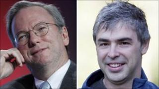 Eric Schmidt (left) and Larry Page