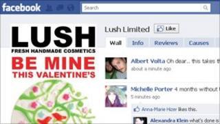Lush on Facebook, Lush