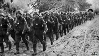 Nazi troops march into Poland in 1939