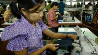 garment worker in Burma