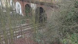 Linton Road railway line