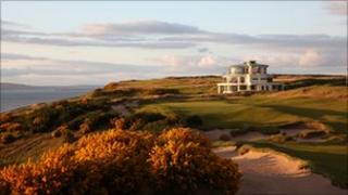 Castle Stuart golf clubhouse and course