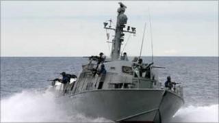 Sri Lankan naval vessel