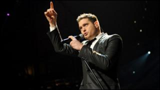 Michael Buble at the Jingle Bell Ball in London