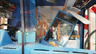 Inside of bus blown up on 7 July