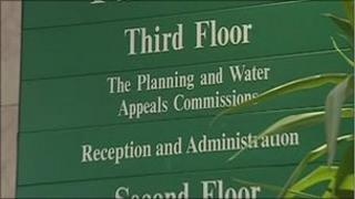 planning appeals office sign