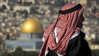A Muslim man in Jerusalem (24 Jan 2011)