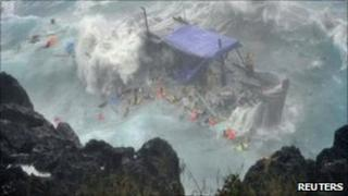 Shipwreck off Christmas Island, Australia (15 Dec 2010)