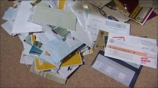 Pile of scam mail