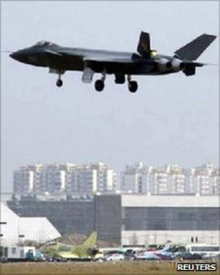 An undated picture circulating on the internet and obtained by Kyodo news agency on 12 January 2011, shows what is reported to be a Chinese J-20 stealth fighter in flight in Chengdu, Sichuan province