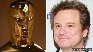 Colin Firth with Oscar statuette