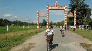Beginning of the Stilwell Road in Assam, India