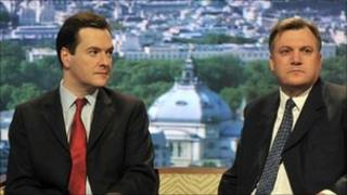 George Osborne and Ed Balls on The Andrew Marr Show in June 2010