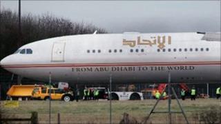 The Etihad Airways plane