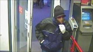 Suspect entering Santander on Friday