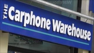 Carphone Warehouse sign - generic