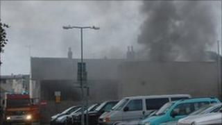 Fire in Elizabeth Lane, St Helier