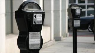 Parking meters in central London