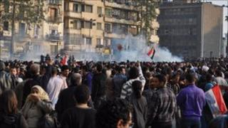 Protests at Tahrir square, Cairo, Egypt, 25 January, Photo: Maryam Helmy