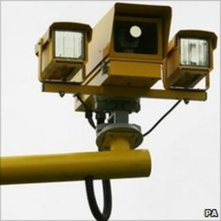 A fixed speed camera