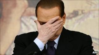 Silvio Berlusconi at a news conference in Rome (26 January 2011)
