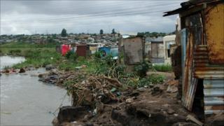 Themba Khoza informal settlement