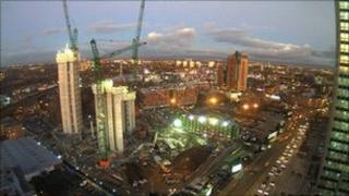 Construction work at new Co-operative Group HQ in Manchester