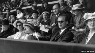 Princess Alexandra of Kent and Prince Philip at Wembley Stadium