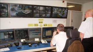 Security control room at Western General Hospital (picture courtesy of NHS Lothian)