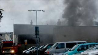 Fire at Elizabeth Lane garages