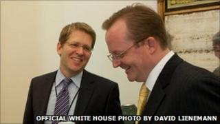 Jay Carney and Robert Gibbs