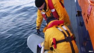 RNLI crew recover Tornado wreckage