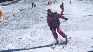 Skiers in the Swat Valley