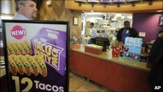 A Taco Bell restaurant in Mountain View, California (file image from December 2010)