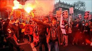 Protesters, Downing Street