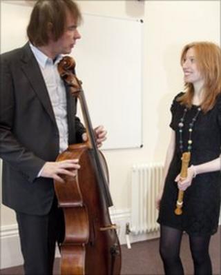 Julian Lloyd Webber with Elspeth Robertson