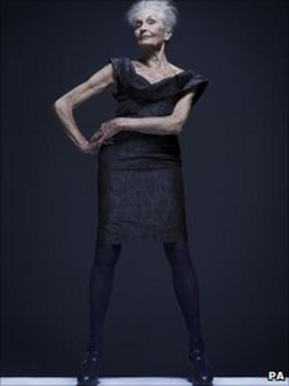 Daphne Selfe wears Vivienne Westwood, photographed by Rankin