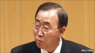 UN Secretary General Ban Ki-moon addresses the AU summit in Addis Ababa. Photo: 30 January 2011