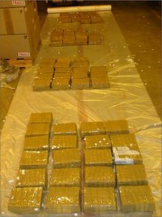 Heroin bricks