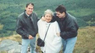 Left to right, James, May and Paul Robertson