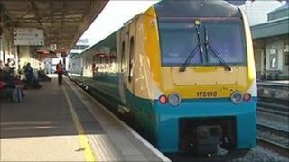 Train at Cardiff
