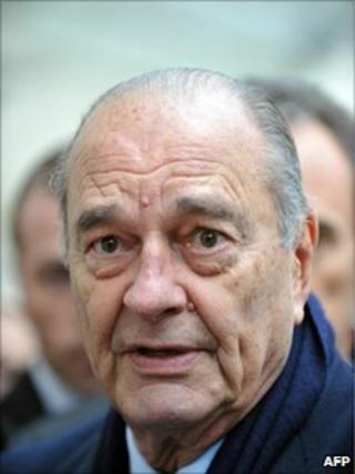 French former President Jacques Chirac (27 Jan 2011)