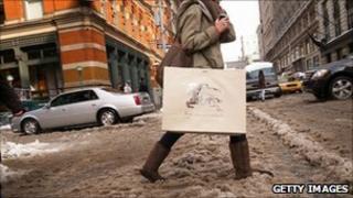 Shopper in New York
